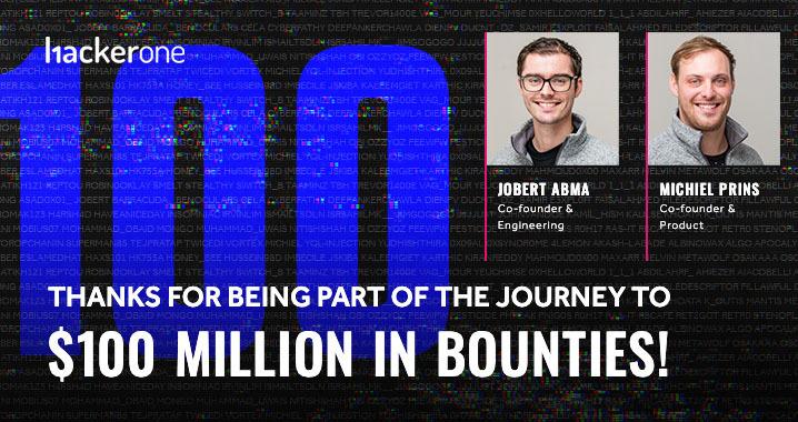 Obrigado por fazer parte da jornada de US $ 100 milhões em recompensas!
