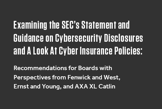 SEC's Statement and Guidance on Cybersecurity