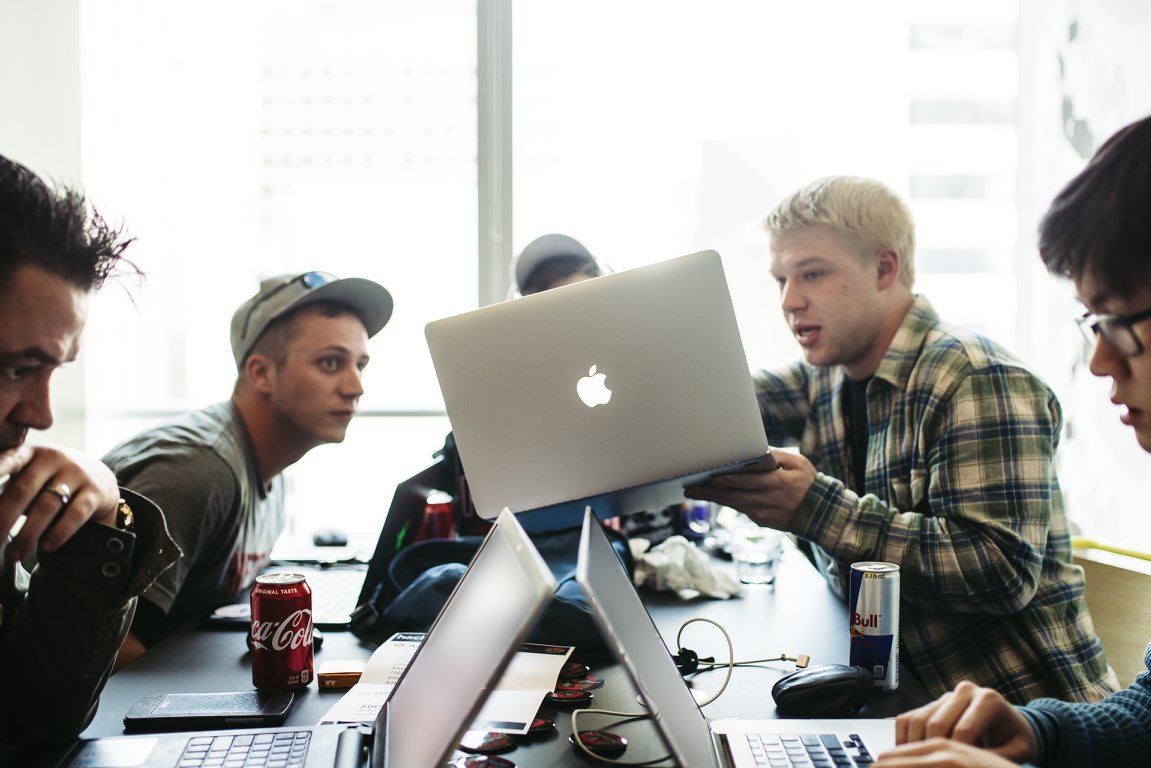 Hackers at Oath's live hacking event