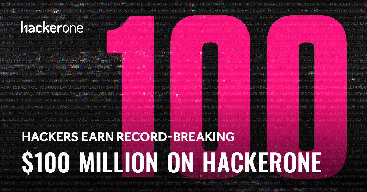 Hackers earn record-breaking $100M on HackerOne