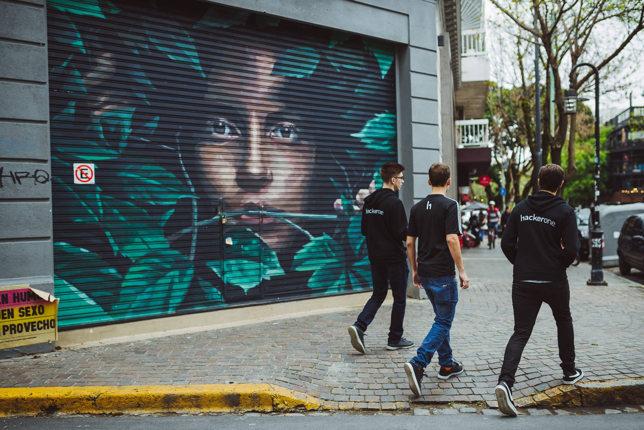 Hackers walking in Buenos Aires