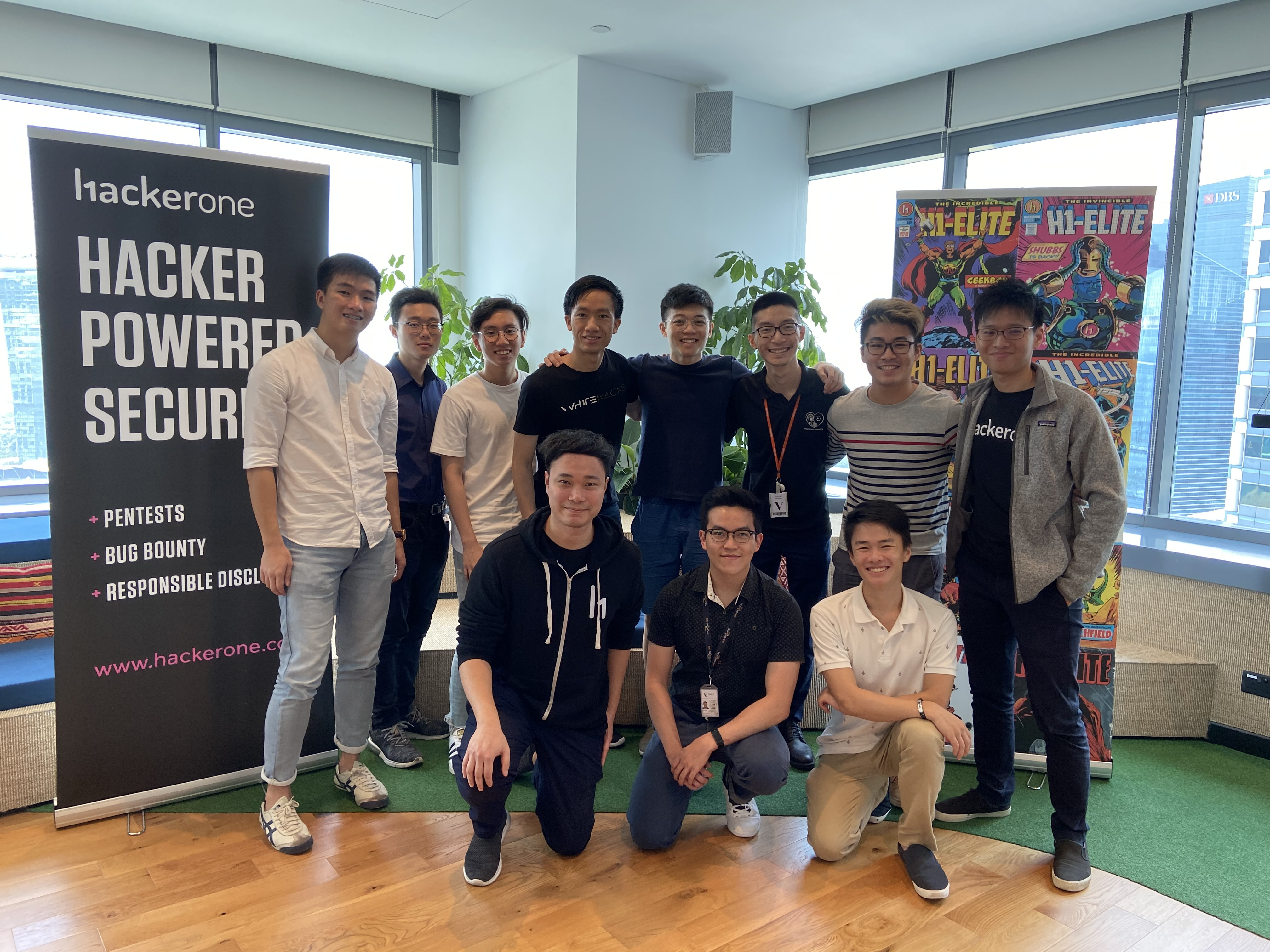 Photo Caption: Prior to COVID-19, a group of students from the WhiteHats Society at Singapore Management University (SMU) visited with HackerOne to learn more about ethical hacking and HackerOne, share knowledge, and educate the next generation of cyber defenders.