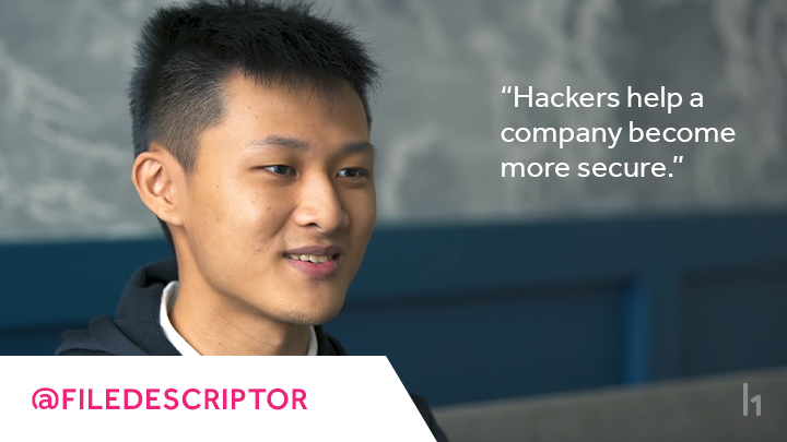 "@filedescriptor reinforces the security aspect, saying that hackers ""help a company become more secure."""