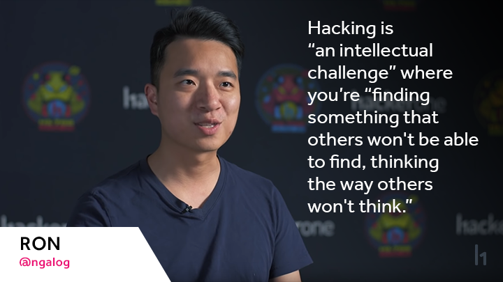 "@ngalog defines hacking as ""an intellectual challenge"" where you're ""finding something that others won't be able to find, thinking the way others won't think."""